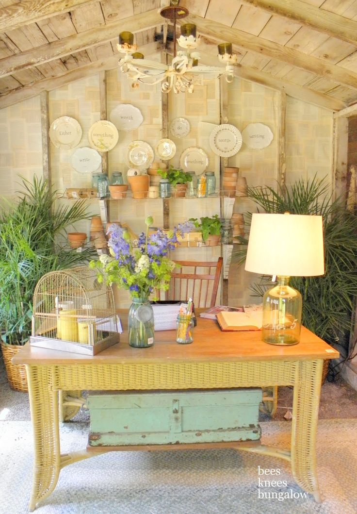 104 best images about garden shed ideas on pinterest for Garden office interior design ideas
