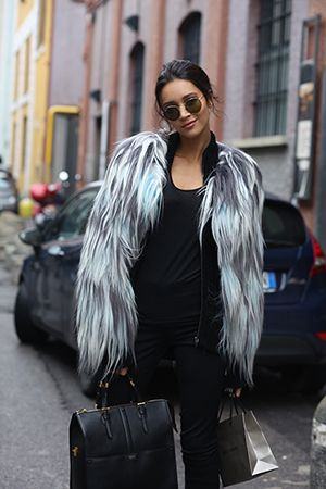 Milan Fashion Week street style—featuring all of the most perfect coats. Can we have? Please?
