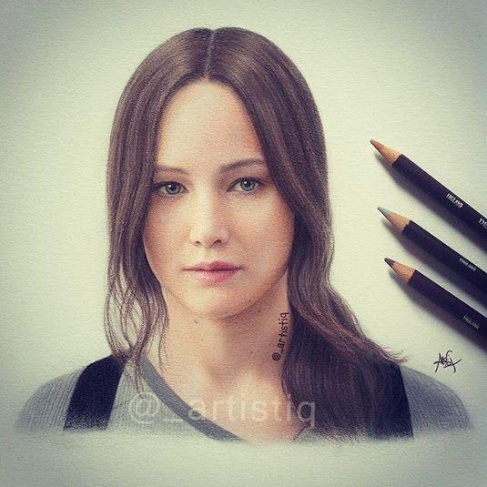 how to draw katniss everdeen cute