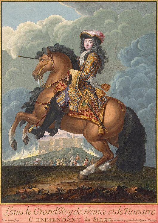 Portrait of Louis XIV on Horseback, in Command of the Troops, after 1680 by II Paul van Somer afterAdam Frans van der Meulen (Hermitage)