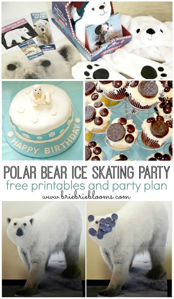 Plan a polar bear ice skating party for the ultimate winter celebration. Free printables and party plan included.