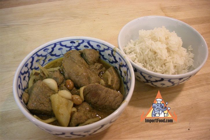 Authentic Thai recipe for Northern Thai Pork Curry, 'Gaeng Hanglay' from ImportFood.com.