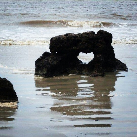 Heart stone. Natal, Brazil