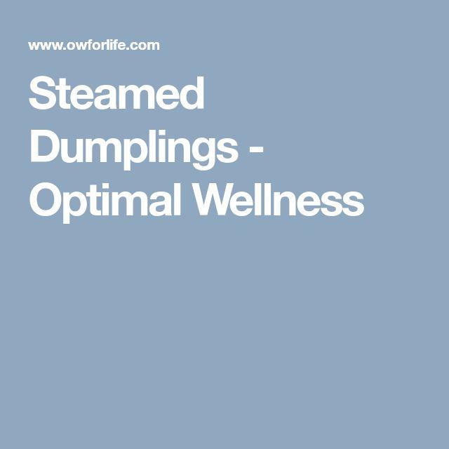 Steamed Dumplings - Optimal Wellness