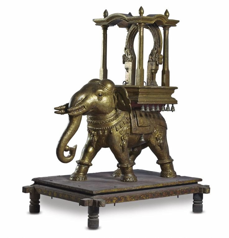 This figure of an #elephant bearing an elaborate canopied pedestal was designed as a processional #vahana or vehicle of a deity.#TamilNadu, #Chennai, district, Late #18thcentury