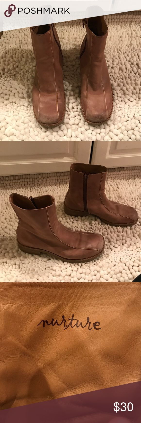 Nurture brown flat boots. Nurture brown flat boots. Leather. Size 7.5 (fits like a 7). nurture Shoes Ankle Boots & Booties