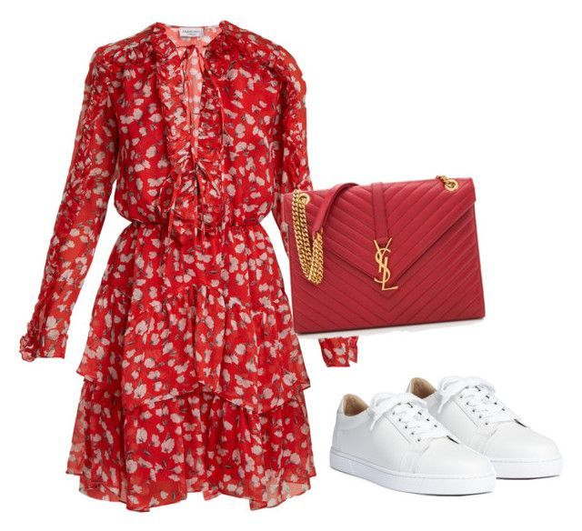 """""""Untitled #1955"""" by fashiongirl2017 ❤ liked on Polyvore featuring Christian Louboutin, Raquel Diniz and Yves Saint Laurent"""