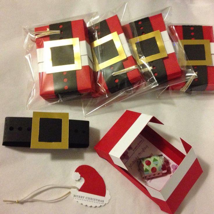 Gift Card Holder Santa Christmas - with Santa Hat Tag / MidnightCrafting.com Stampin Up
