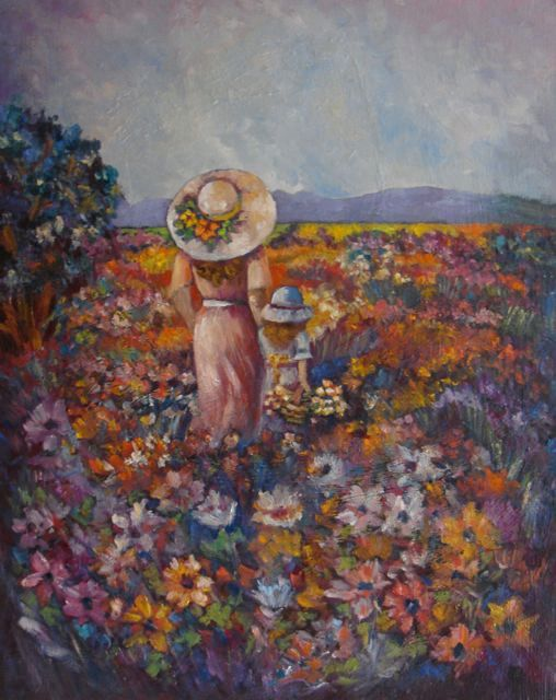 """South African Flowers"" original oil painting by artist Vanessa Penman - www.penman.co.nz"