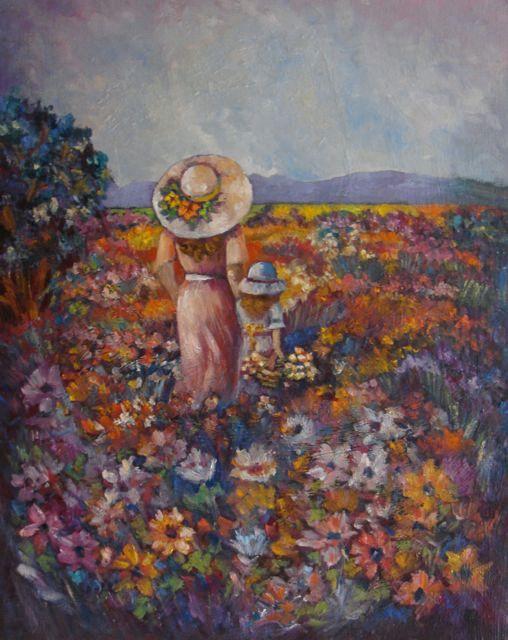 """South African Flowers"" original oil painting by artist Vanessa Penman - www.penman.co.nz"