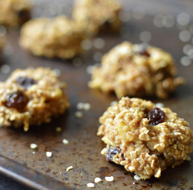 Vegan Was ich an einem Tag essen - Budget (3 #) - Banane Haferflocken Frühstück Cookies - 2 Zutaten - Glutenfrei - Rich Bitch Kochen Blog