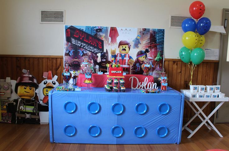 Lego Party All For Kids Party Hire table setup