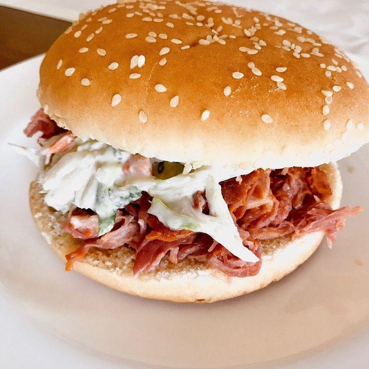 Pulled Pork Burger #foodporn #doityourself