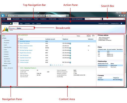 MicroSoft Enterprise Portal navigation elements