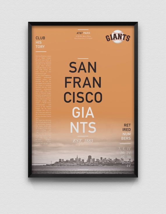 San Francisco Giants Modern Print by DesignsByEJB on Etsy, $18.00