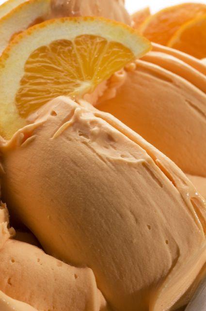 Orange gelato.