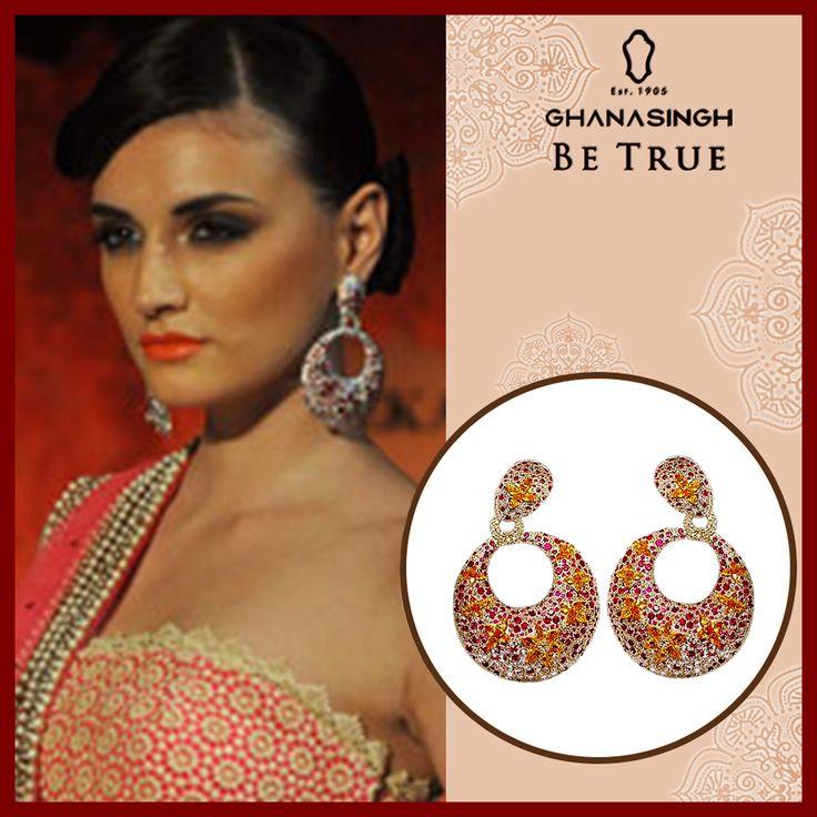 Diamond classic Earring by #MahekaMirpuri's for #GhanasinghBeTrue ,Bandra.