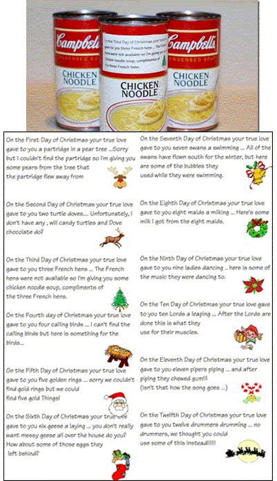 12 Days of Xmas - Surprise someone with 12 days of practical/fun Xmas presents.  find funny and clever ways of dropping them off or having them delivered :)