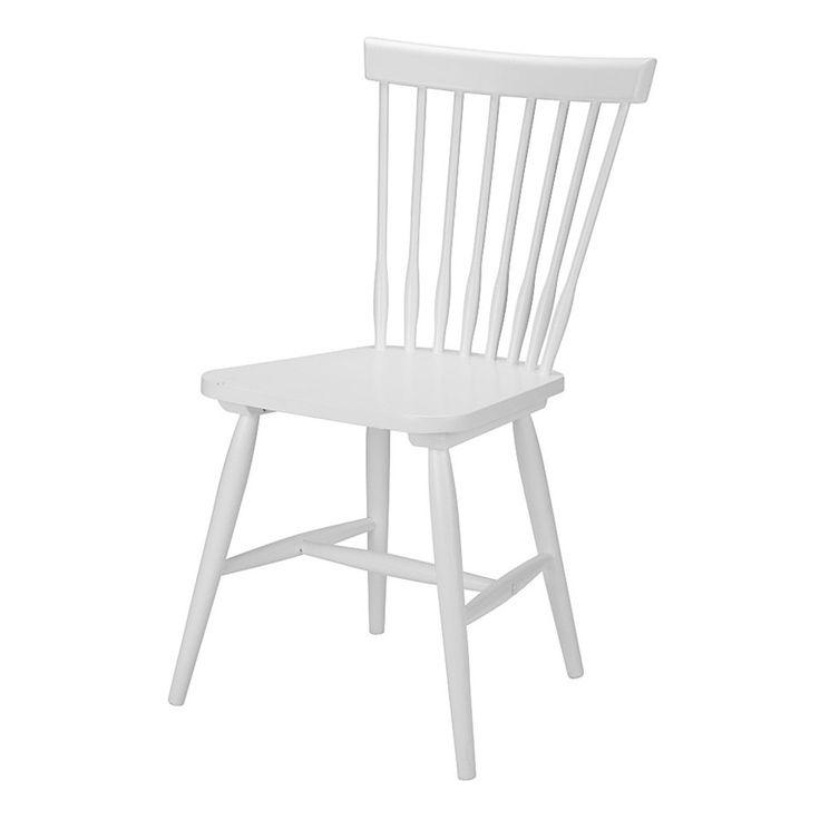 Stuhl »Melo« (weiß lackiert) - Dänisches Bettenlager