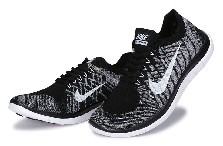 Nike Free Run Flyknit 4.0 Black White