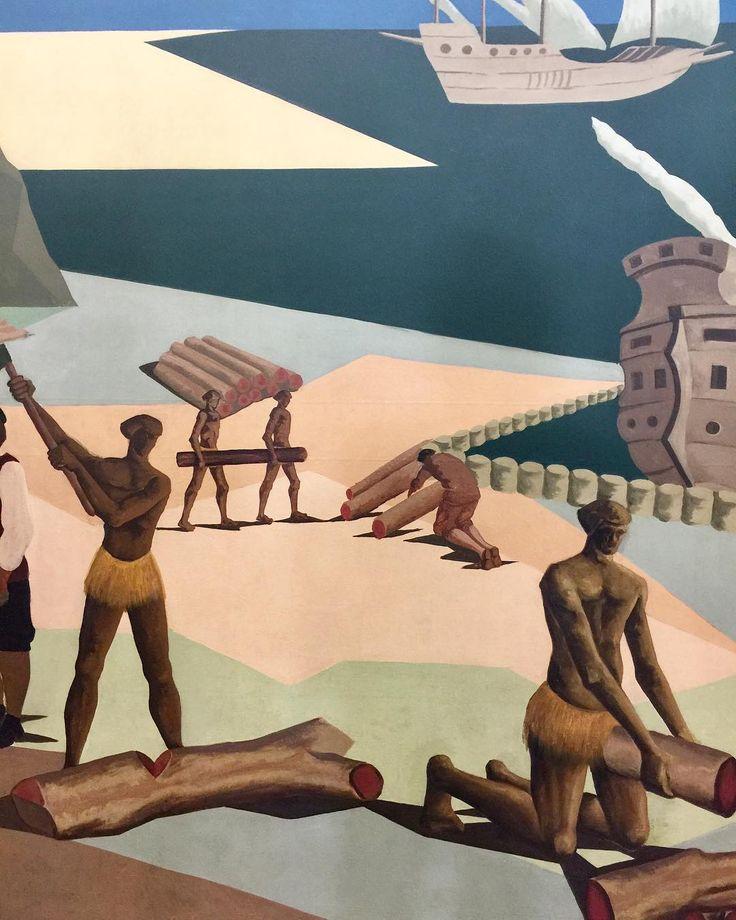 Clóvis Graciano, na Coleção Itaú, na Oca. Clóvis Graciano era multicultural. Foi pintor, caricaturista, muralista e cenógrafo. Em sua trajetória, também foi sócio fundador do MAM (Museu de Arte Moderna de São Paulo), e presidente da Comissão Estadual de Artes Plásticas e do Conselho Estadual de Cultura. @ocabrasil #bambooinstagram