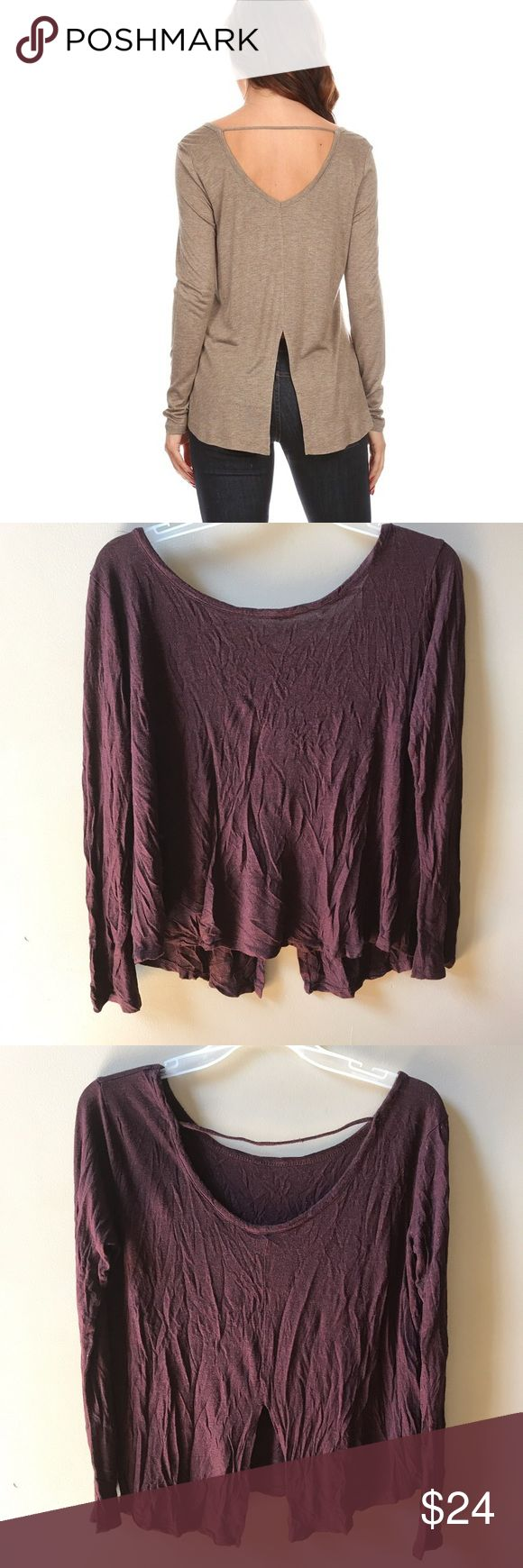 ADDITONAL 50% OFF! Burgundy Cut Out Top Great Condition! Little to no wear Tops