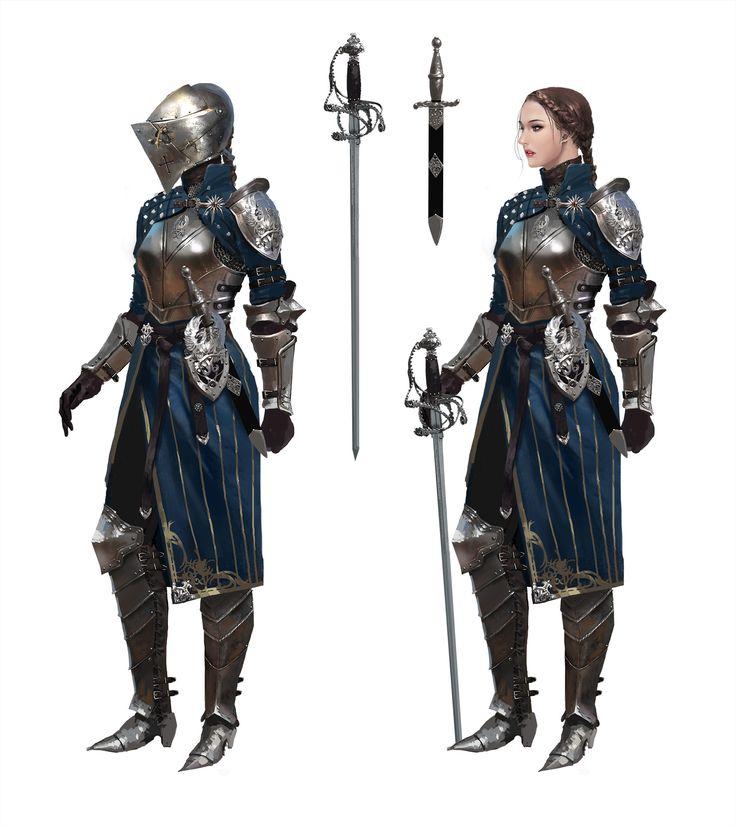 knight by Kim Eun Chul on ArtStation. Female warrior, fighter
