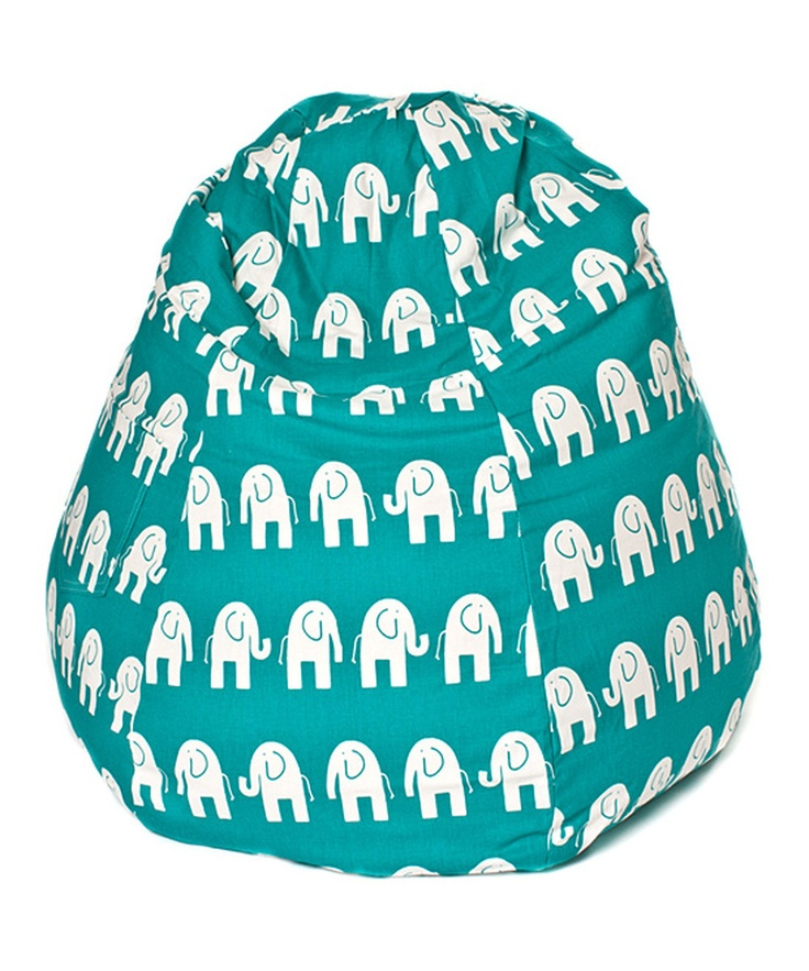 Teal Amp White Elephant Tear Drop Bean Bag Chair Chairs