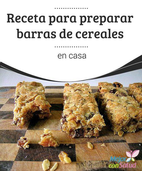 Receta para preparar barras de cereales en casa  Las barras de cereales constituyen una excelente opción, práctica y saludable, para los desayunos y meriendas, tanto para adultos como para niños.
