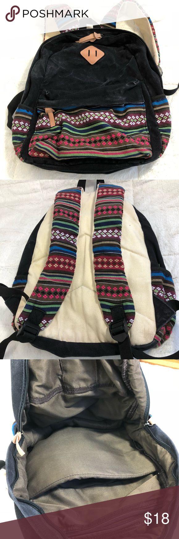 Embroidered Boho Backpack Floral Leather Laptop Em…