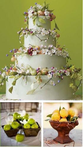 Rustic Wedding Cake With Wildflowers