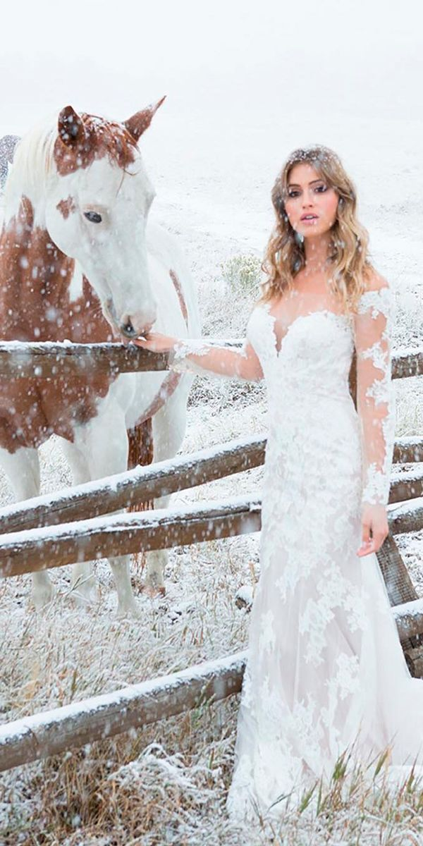 30 Beautiful Wedding Dresses By Top USA Designers ❤ beautiful wedding dresses winter sheath sweetheart lace long sleeves allure bridals ❤ See more: http://www.weddingforward.com/beautiful-wedding-dresses/ #weddingforward #wedding #bride