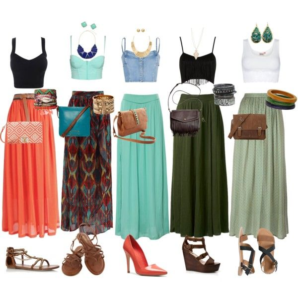 Crop top and maxi skirt fever - Polyvore