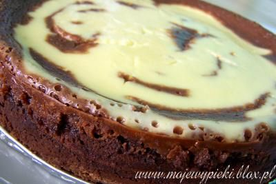 Sernik czekoladowy z nutellą
