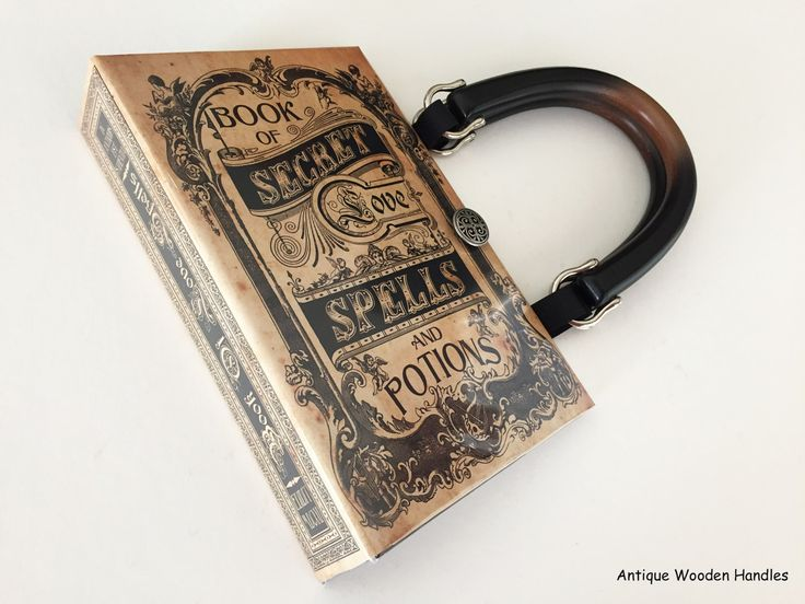Book of Secret Love Spells and Potions Book Purse - WICCAN Book Clutch - Salem Witch Spells Book Cover Handbag - Love Spells Handbag by NovelCreations on Etsy