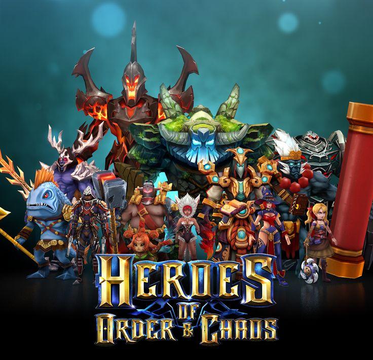 """다음 @Behance 프로젝트 확인: """"Heroes of Order and Chaos - Game Artwork"""" https://www.behance.net/gallery/45409775/Heroes-of-Order-and-Chaos-Game-Artwork"""