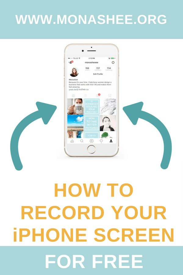 This tutorial shows you how to record your iphone screen. Check this out if you want to learn how to record your phone screen for free using a video conferencing software called Zoom.  https://monashee.org/how-to-record-your-iphone-screen-for-free/