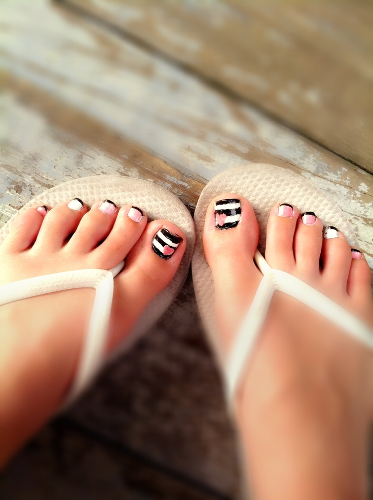 25+ Best Striped Toe Nails Ideas On Pinterest