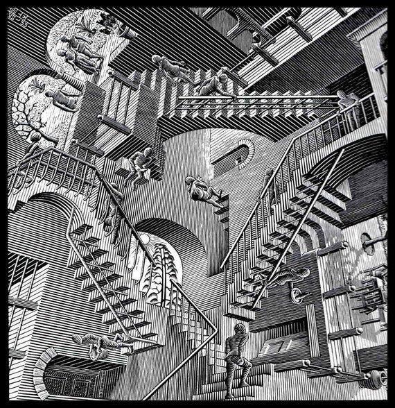 "Image result for m. c. escher prints"""