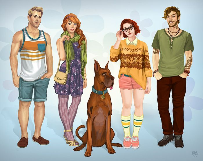 Modern Scooby-Doo Character Fan Art Redesigns http://geekxgirls.com/article.php?ID=8110