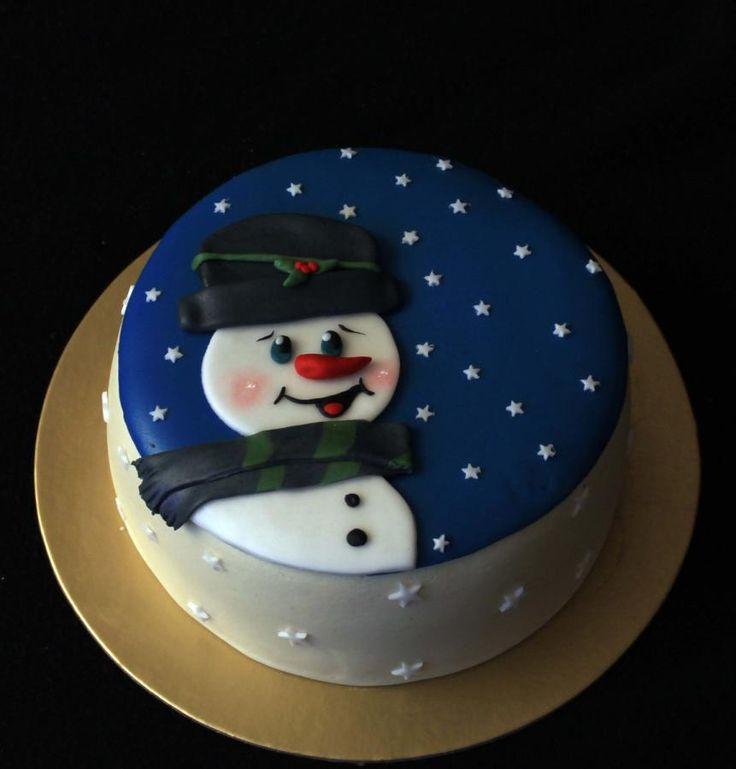Snowman - Cake by luna More