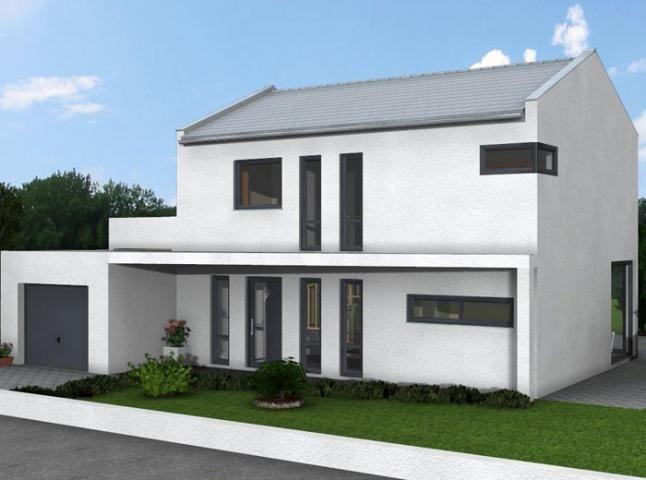 Bauhaus 179 · SatteldachAnbauProjekteIdeenModerne AußenBauhausModerne  ArchitekturHaus DesignGarage