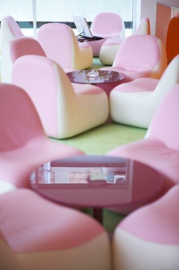 Impeccable interior design at Semiramis Hotel by Karim Rashid!