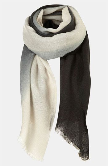 With its range of neutrals, this ombre scarf would go with just about anything; $32.