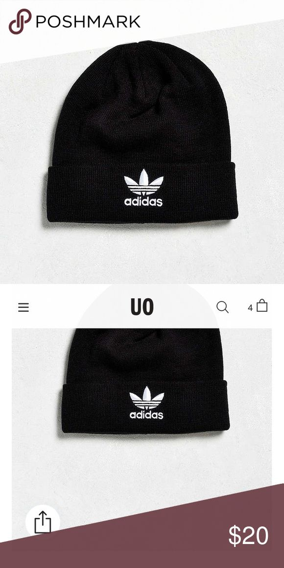 UO Adidas Beanie Perfect condition! Solid black other than adidas logo on front! New with out tags. Urban Outfitters Accessories Hats