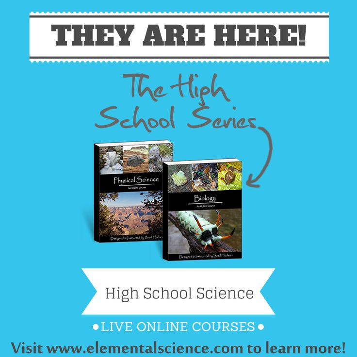 All new online, high school #science courses from Elemental Science!