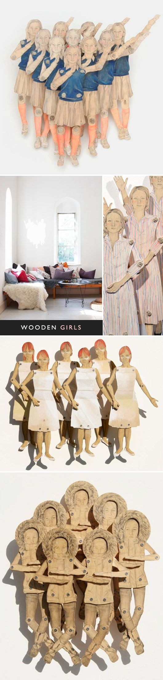 Love these wooden sculptures by Claire Oswalt, found by The Jealous Curator on sfgirlbybay.