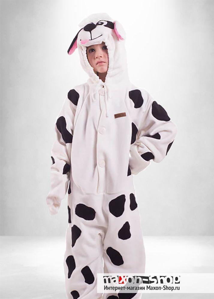Пижама кигуруми  quot Далматинец quot  комбинезон для детей от 3 до 6  лет.Увидев бы эту расцветку Каруэлла Дэвил...  52ee6e0bcbdff