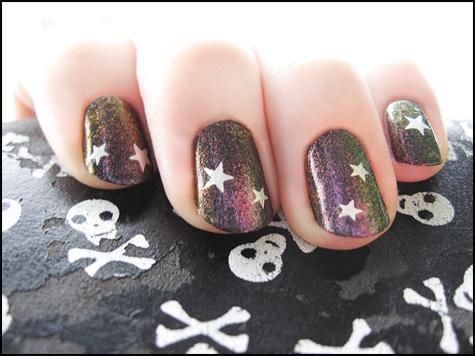 177 best nail colors 02 chromatics images on pinterest nail blackheart beauty oil slick and revlon nail art stencils prinsesfo Gallery