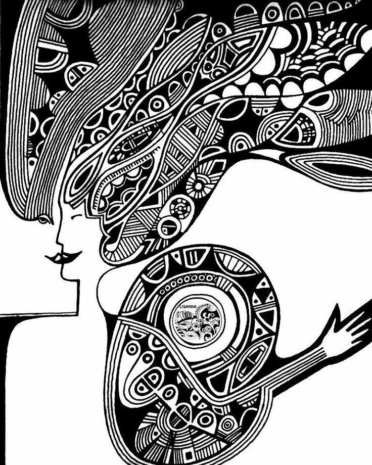 MY#Graphic #lisanka #paint #art #picture #blackwhitephoto #abstractart #artist…